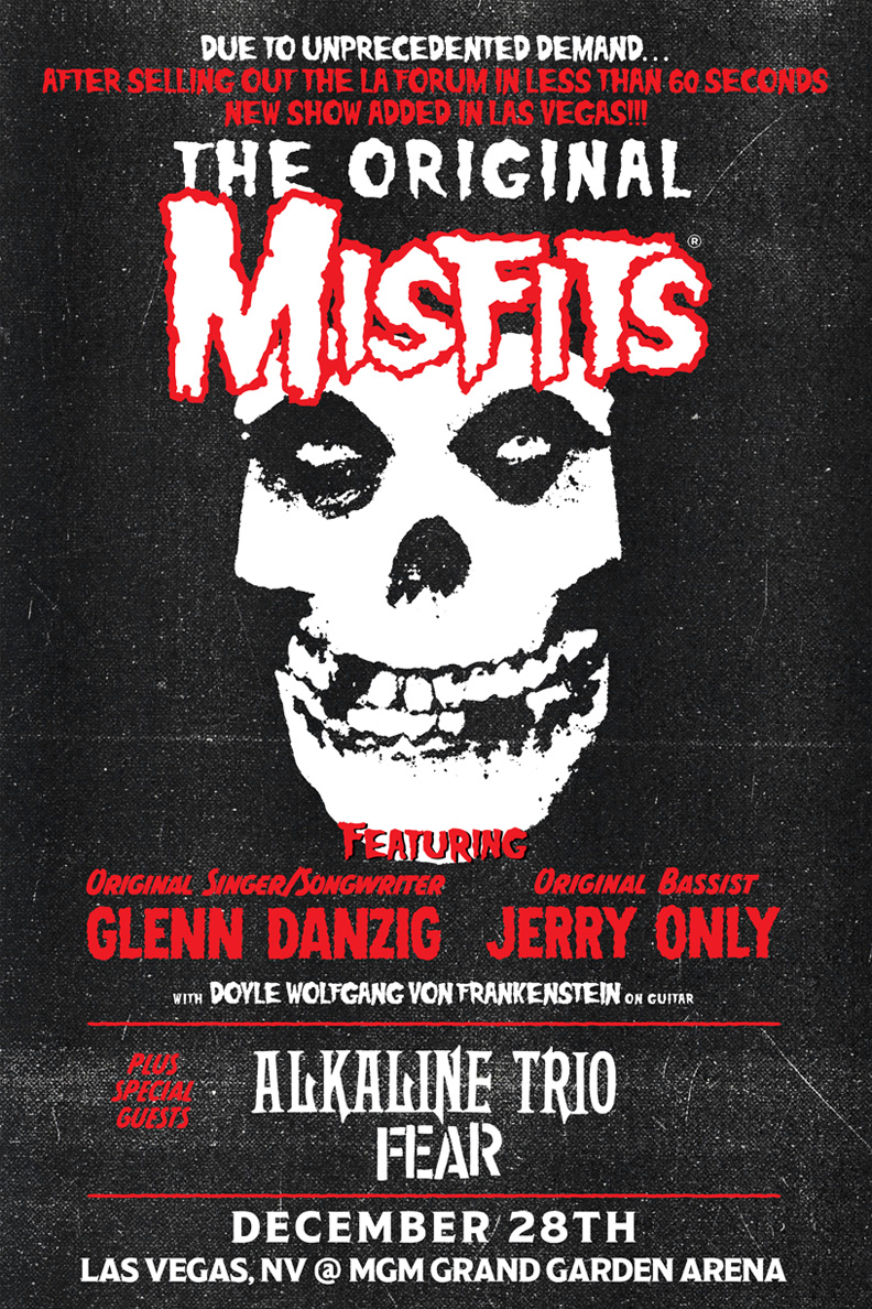 0c355a1fa86 In a  Record Breaking  less than 60 seconds of the general public ticketing  for The Original Misfits at the Forum on 12 30